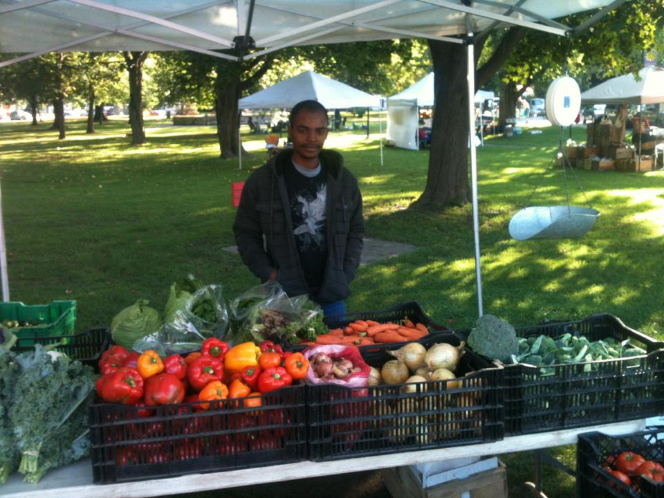 Robenson sold produce at local farmers markets